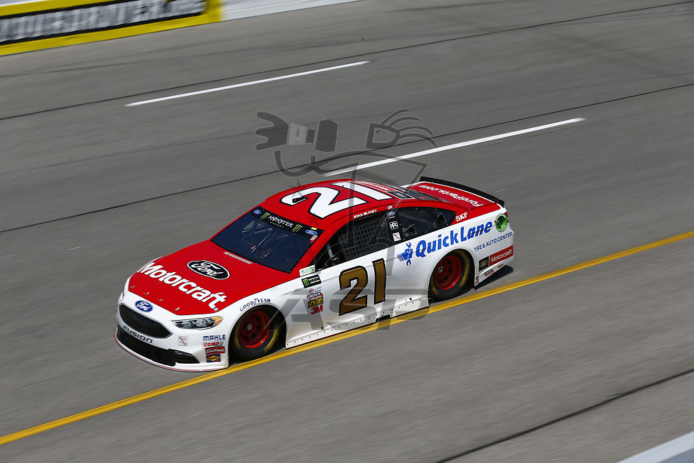 April 28, 2017 - Richmond, Virginia, USA: Ryan Blaney (21) takes to the track to practice for the Toyota Owners 400 at Richmond International Speedway in Richmond, Virginia.