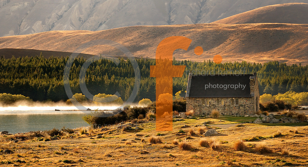 Richard Furhoff 100101_NewZealand_DSC4123.tif .Church, Lake Tekapo. New Zealand