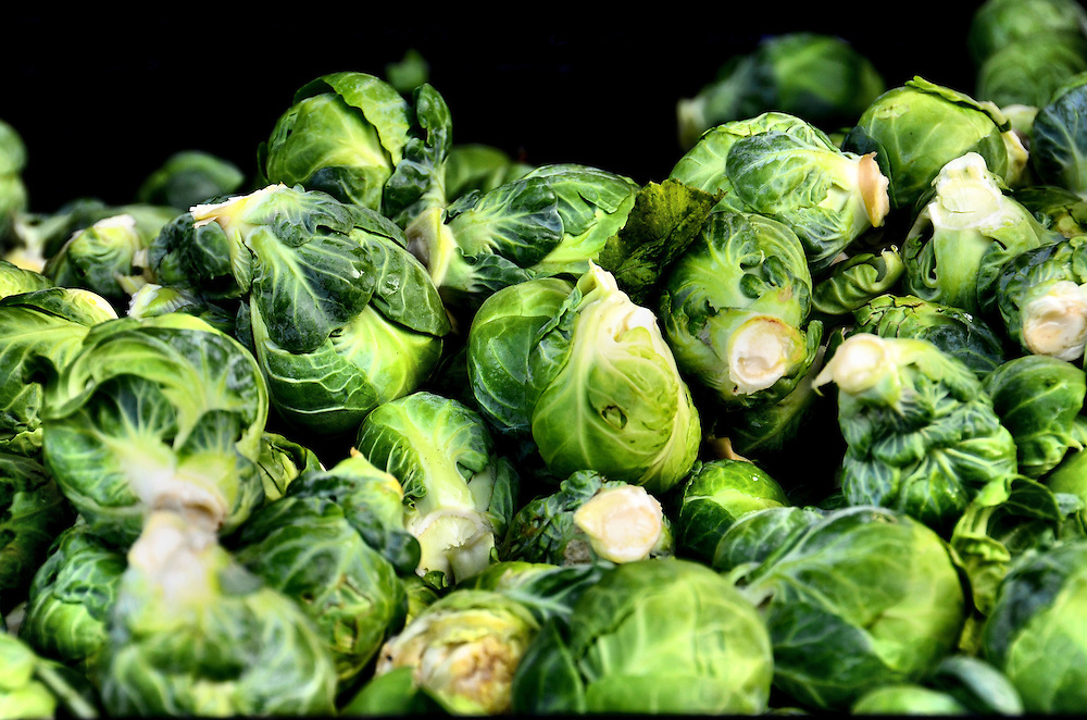 Brussels Sprouts at Farmers Market in Vancouver, Canada