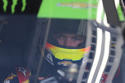 September 29, 2018 - Charlotte, NC, U.S. - CHARLOTTE, NC - SEPTEMBER 29:#88: Alex Bowman, Hendrick Motorsports, Chevrolet Camaro Axalta in his car in the garages during the Monster Energy NASCAR Cup Series Playoff Race - Bank of America ROVAL 400 on September 29, 2018, at Charlotte Motor Speedway in Concord, NC. (Photo by Jaylynn Nash/Icon Sportswire) (Credit Image: © Jaylynn Nash/Icon SMI via ZUMA Press)