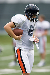 Virginia Cavaliers PK/P Chris Gould (9)..The Virginia Cavaliers football team held their first open practice of the 2007 season on the practice fields next to the University of Virginia's McCue Center in Charlottesville, VA on August 10, 2007.