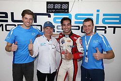 February 3, 2018 - Malaisie, Sepang - 33 EURASIA MOTORSPORT (MAL) LIGIER JSP2 LMP2 MARCO ASMER (EST) NABIL JEFFRI (MAS) JAKE PARSONS (AUS) OVERALL POLESITTER WITH MARK GODDARD (GBR) TEAM OWNER (Credit Image: © Panoramic via ZUMA Press)