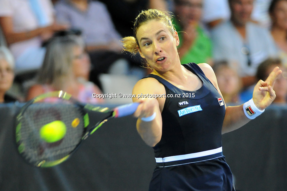 New Zealand player Marina Erakovic during her night game on Day 2 of the ASB Classic Women's International. ASB Tennis Centre, Auckland, New Zealand. Tuesday 6 January 2015. Copyright photo: Chris Symes/www.photosport.co.nz