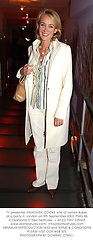 TV presenter ANASTASIA COOKE wife of James Baker, at a party in London on 9th September 2003.PMG 86