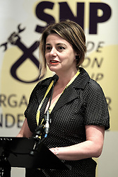 SNP Spring Conference, Saturday 27th April 2019<br /> <br /> SNP Trades Union Group fringe meeting<br /> <br /> The Scottish Trade Union campaign to tackle Corporate Homicide is as old as the Scottish Parliament.  From 2006 the received wisdom has been because any Act would relate to H&S, which is not devolved, the Scottish Parliament may not have legislative competence.<br /> <br /> This view was clearly politically motivated at the time but it has remained received wisdom within the civil service.<br /> <br /> The Trade Unions' campaign however will not go away.  Trade Unions' believe there is a solution using a previously untested section of the Scotland Act.<br /> <br /> We call upon the political will of the Scottish Government to look at this alternative and right the political wrongs of previous Scottish Executives - it is a win-win.<br /> <br /> This is arranged jointly by the TUG and Scottish Hazards and the Speakers are:<br /> <br /> Patrick McGuire, Legal Advisor to Scottish Hazards<br /> <br /> Lynn Henderson,  Past President, Scottish Trades Union Congress<br /> <br /> Chris Stephens MP, Shadow SNP Spokesperson (Fair Work and Employment)<br /> <br /> Chair:  Greg McCarra, Convener, SNP Trade Union Group<br /> <br /> Pictured:  Lynn Henderson<br /> <br /> Alex Todd | Edinburgh Elite media