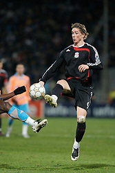 MARSEILLE, FRANCE - Tuesday, December 11, 2007: Liverpool's Fernando Torres in action against Olympique de Marseille during the final UEFA Champions League Group A match at the Stade Velodrome. (Photo by David Rawcliffe/Propaganda)