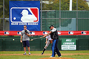 Chris Woodward during a training session with Major League Baseball pros Boston Red Sox pitcher Mark Melancon, San Diego Padres catcher Nick Hundley and Toronto Blue Jays infielder Chris Woodward at Lloyd Elsmore Park, Auckland. Wednesday 18 January 2011. Photo: Ella Brockelsby / photosport.co.nz
