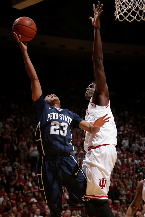 12 February 2014: Penn State Nittany Lions guard Tim Frazier (23) as the Indiana Hoosiers played Penn State in a college basketball game in Bloomington, Ind.
