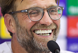 NAPLES, ITALY - Monday, September 16, 2019: Liverpool's manager Jürgen Klopp during a press conference at the Stadio San Paolo ahead of the UEFA Champions League Group E match between SSC Napoli and Liverpool FC. (Pic by David Rawcliffe/Propaganda)