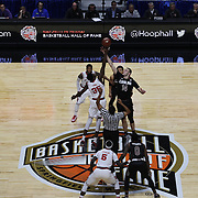 The tip off during the St. John's vs South Carolina Men's College Basketball game in the Hall of Fame Shootout Tournament at Mohegan Sun Arena, Uncasville, Connecticut, USA. 22nd December 2015. Photo Tim Clayton