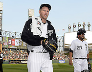 CHICAGO - MAY 07:  Chris Sale #49 of the Chicago White Sox walks toward the dugout after warming up in the bullpen prior to the game against the Minnesota Twins on May 7, 2016 at U.S. Cellular Field in Chicago, Illinois.  The White Sox defeated the Twins 7-2.  (Photo by Ron Vesely)    Subject:  Chris Sale