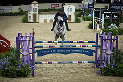 Deusser Daniel, (GER), Cornet D Amour <br /> Training session<br /> Longines FEI World Cup™ Jumping Finals <br /> Las Vegas 2015<br />  © Hippo Foto - Dirk Caremans<br /> 15/04/15