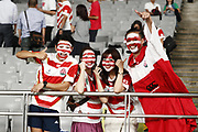 Fans Japan during the Japan 2019 Rugby World Cup Pool A match between Japan and Russia at the Tokyo Stadium in Tokyo on September 20, 2019.