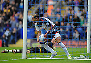 Picture by Chris Donnelly/Focus Images Ltd. 07500 903009 .17/9/11.Martin Petrov of Bolton collects the ball after scoring a penalty during the Barclays Premier League match at Reebok stadium, Bolton.