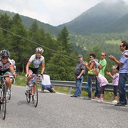 Loes Gunnewijk in de beklimming van de Passo di Mortirolo