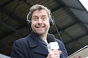 Broadcaster Mark Chapman prior the The FA Cup match between Sutton United and AFC Wimbledon at Gander Green Lane, Sutton, United Kingdom on 7 January 2017. Photo by Stuart Butcher.