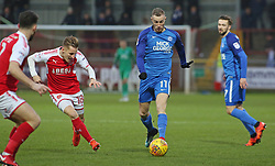 Marcus Maddison of Peterborough United in action with George Glendon of Fleetwood Town - Mandatory by-line: Joe Dent/JMP - 17/12/2017 - FOOTBALL - Highbury Stadium - Fleetwood, England - Fleetwood Town v Peterborough United - Sky Bet League One
