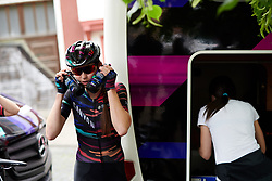 Christa Riffel (GER) cools down with her fresh bidons at Lotto Thüringen Ladies Tour 2019 - Stage 4, a 114.8 km road race in Gotha, Germany on May 31, 2019. Photo by Sean Robinson/velofocus.com