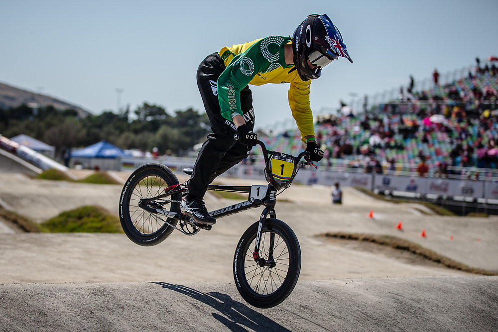 13 Boys #1 (TUCKER Thomas) AUS at the 2018 UCI BMX World Championships in Baku, Azerbaijan.