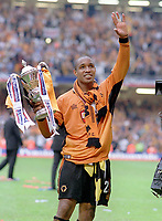 Paul Ince (Wolves) celebrates with the Cup. Wolverhampton Wanderers v Sheffield United. Division One play off Final @ Cardiff's Millennium Stadium. 26/5/2003. Credit : Colorsport/Andrew Cowie.
