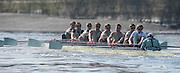London, Great Britain,  BNY Mellon, University Men's Boat Race Tideway Week, Putney to Mortlake. ENGLAND. <br /> <br /> Tuesday   07/04/2015<br /> <br /> [Mandatory Credit; Peter Spurrier/Intersport-images]<br /> <br /> Crew, CUBC<br /> left to right, Bow: Jasper HOLST, Luke JACKET, Joshua HOOPER, Alexannder LEICHTER, William WARR, Matthew JACKSON, Ben RUBLE, Henry HOFFSTOT and Cox Iam MIDDLETON .   Empacher.