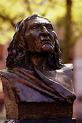 Image of Chief Seattle statue at Pioneer Square, Seattle, Washington, Pacific Northwest
