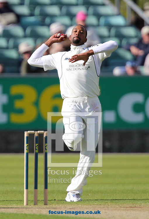 Picture by Paul Gaythorpe/Focus Images Ltd +447771 871632.22/05/2013.Corey Collymore of Middlesex County Cricket Club bowling during the LV County Championship Div One match at Emirates Durham ICG, Chester-le-Street.