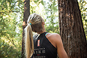 Ultrarunner Stephanie Howe in the Redwood Regional Park in Oakland, CA