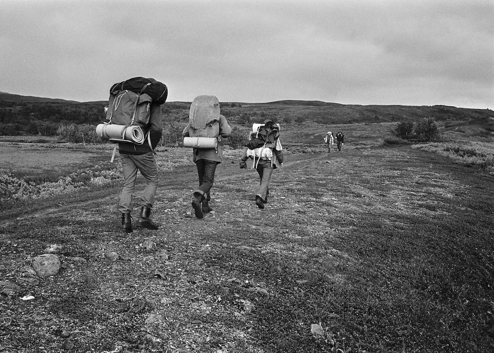 Vandring genom Padjelanta, det övre landet i Lappland mellan Norge och Sarek