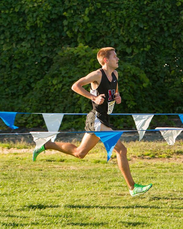 Boston College Invitational Cross Country race at Franklin Park; Steven Sollowin, Northeastern