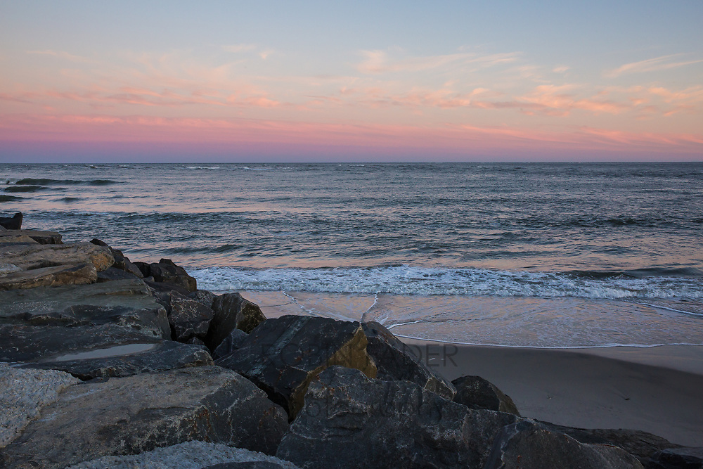 Longport Rocks at sunset