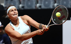 May 14, 2019 - Rome, Italy - Aryna Sabalenka (RUS) during the WTA Internazionali d'Italia BNL first round match at Foro Italico in Rome, Italy on May 13, 2019. (Credit Image: © Matteo Ciambelli/NurPhoto via ZUMA Press)