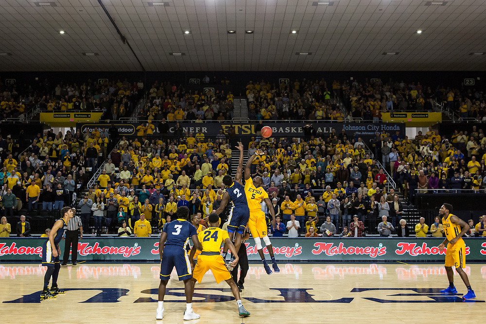 February 3, 2018 - Johnson City, Tennessee - Freedom Hall: ETSU center Peter Jurkin (5)<br /> <br /> Image Credit: Dakota Hamilton/ETSU