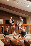 Lisa Coper Family Portrait at home in Springbank, Calgary. Contribution to  Alberta Adolescence Recovery Center (AARC)
