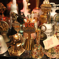 Bells from the collection of Louise Evans are pictured at Evans' home Sunday December 14, 2014 in Wilmington, N.C. Evans has a collection of more than 600 bells. (Jason A. Frizzelle)