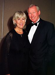 MR & MRS BOB WILSON he is the footballer, at a dinner in London on 14th October 1999.MXU 8