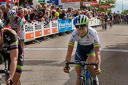 Rider of Orica - AIS during the Holland Ladies Tour at the finish, 's-Heerenberg, Gelderland, The Netherlands, 1 September 2015.<br /> Photo: Pim Nijland / PelotonPhotos.com