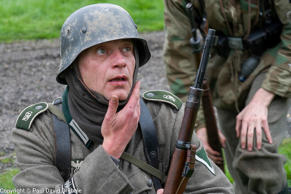 German soldier in Steel Helmet with rifle | Freelance