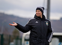 ZENICA, BOSNIA AND HERZEGOVINA - Monday, November 27, 2017: Wales' manager Jayne Ludlow during a training session ahead of the FIFA Women's World Cup 2019 Qualifying Round Group 1 match against Bosnia and Herzegovina at the FF BH Football Training Centre. (Pic by David Rawcliffe/Propaganda)