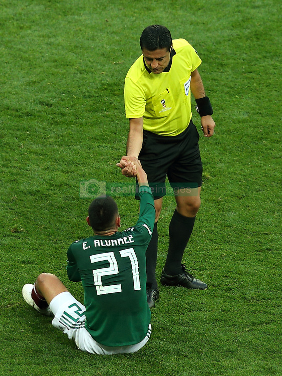 June 17, 2018 - Moscow, Russia - June 17, 2018, Russia, Moscow, FIFA World Cup, First round, Group F, Germany vs Mexico at the Luzhniki stadium. Player of the national team Edson Omar Alvarez Velasquez (Credit Image: © Russian Look via ZUMA Wire)