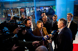 Matjaz Kek with journalists during Traditional New Year party of of the Slovenian Football Association - NZS, on December 20, 2018 in Gospodarsko razstavisce, Ljubljana, Slovenia. Photo by Vid Ponikvar / Sportida