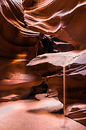 The sands of time with the help of rushing water of flash floods have sculpted some of the coolest geology of the world in the American Southwest.   Upper Antelope canyon has been aiding photographers making art for a hundred years.