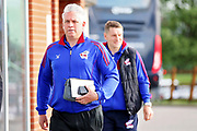 Scunthorpe United's interim manager Nick Daws arrives at the stadium before the EFL Sky Bet League 1 play off second leg match between Rotherham United and Scunthorpe United at the AESSEAL New York Stadium, Rotherham, England on 16 May 2018. Picture by Nigel Cole.