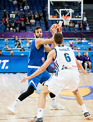 Nikos Pappas of Greece vs Aleksej Nikolic of Slovenia during basketball match between National Teams of Slovenia and Greece at Day 4 of the FIBA EuroBasket 2017 at Hartwall Arena in Helsinki, Finland on September 3, 2017. Photo by Vid Ponikvar / Sportida