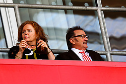 Paul (Chuckle) Elliott, one half of the Chuckle Brothers and his wife Sue attend the Rotherham United v Ipswich Town match in memory of his brother Barry (Chuckle) Elliott - Mandatory by-line: Ryan Crockett/JMP - 11/08/2018 - FOOTBALL - Aesseal New York Stadium - Rotherham, England - Rotherham United v Ipswich Town - Sky Bet Championship