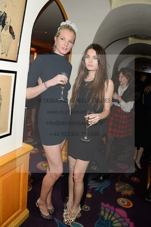 Left to right, GEORGIANA HUDDART and JENNIFER MEDHURST at Tatler Magazine's Little Black Book Party held at Annabel's, Berkeley Square, London on 5th November 2013.
