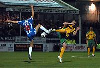 Photo: Ashley Pickering/Sportsbeat Images.<br /> Colchester United v Norwich City. Coca Cola Championship. 15/12/2007.<br /> Mark Fotheringham of Norwich (R) challenges Kem Izzet of Colchester