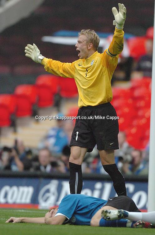 MART POOM, Goalkeeper, Estonia, England - Estonia, UEFA European Championships 2008, Wembley, 13/10/2007