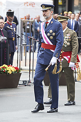 May 26, 2018 - Logrono, La Rioja, Spain - King Felipe VI of Spain attended the Armed Forces Day Homage on May 26, 2018 in Logrono, La Rioja, Spain (Credit Image: © Jack Abuin via ZUMA Wire)