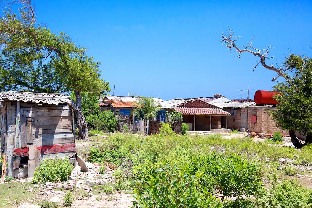 Houses in Caletones, Holguin, Cuba.